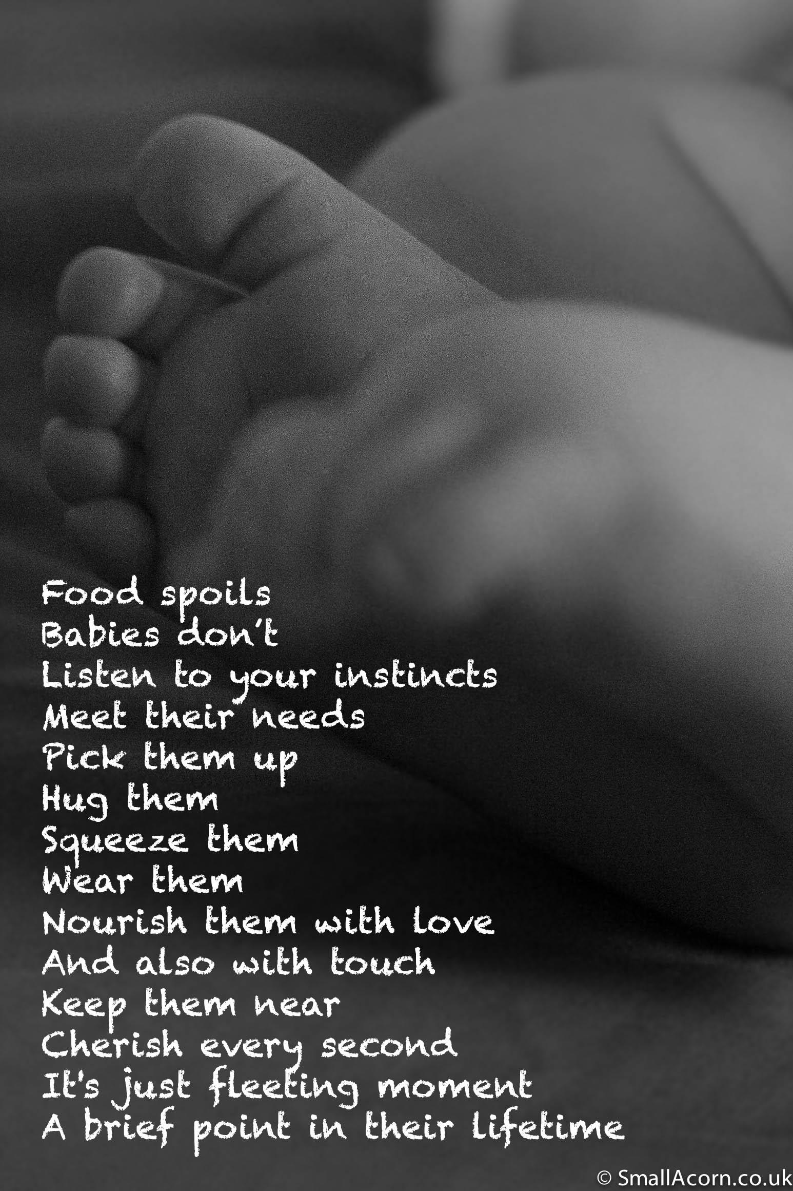 Food spoils poem on little feet