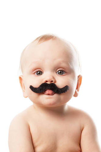 small acorn photo of a baby with a moustache for fun fact friday week 20 - Babies Grow Moustaches, Then Eat Them!