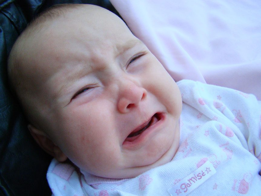 small acorn photo of a crying baby for - Babies Cry in the Womb, as Practice for Their Big Day - fun fact friday week 31