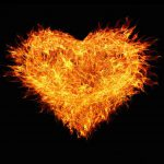 Picture of a fiery heart for - Hairy Babies Give You Heartburn! - Fun Fact Friday - Week 35