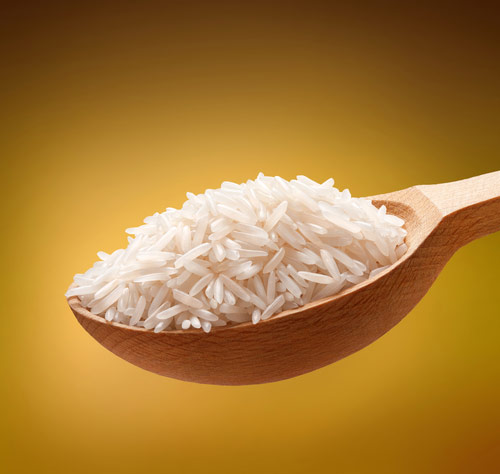 a photo of rice on a spoon for fun fact friday week 42