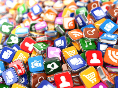 image of a pile of app icons