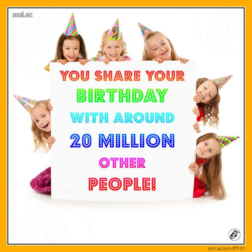 You Share Your Birthday with Around 20 Million Other People!